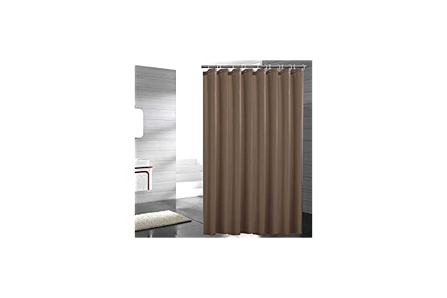 Eforgift Light Brown Shower Curtain Fabric Water Proof Anti Bacterial No More Mildew Sturdy Metal Grommets Standard Size 72 X Inch