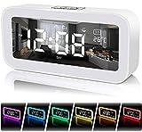 FastDeng Digital Clock-Sunrise Alarm Clocks for Bedroom with USB Ports - Wake Up Light Alarm Clock,Snooze,Dimmer 7 Colors, Night Light,Dual Alarm Clocks for Heavy Sleepers, Kids (White)
