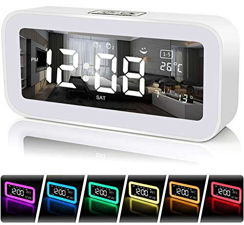 FastDeng Digital Clock-Sunrise Alarm Clock for Bedrooms with USB Ports - Wake...