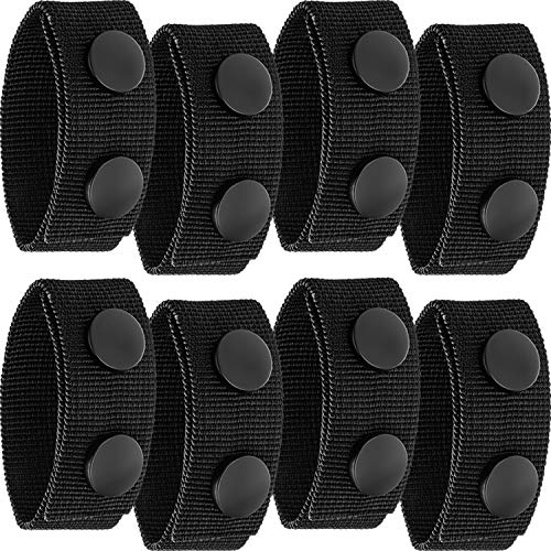 WILLBOND Belt Keeper Double Snaps Belt Keeper for Outdoor Sports Belt Fixing (8 Pieces)