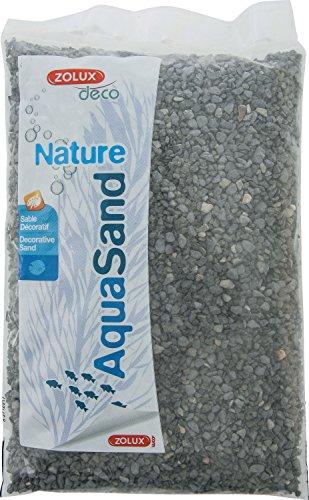 Zolux Kies Natur für Aquarium Basalt Schwarz von 1bis 4mm granulométie–1kg