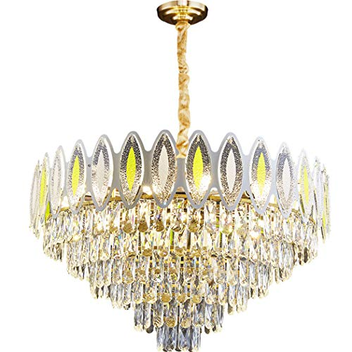 ZIXUAL Modern K9 Crystal Chandelier Iluminación Instalación incrustada LED Luz de Techo Lámparas de Techo Adecuado para Comedor, baño, Dormitorio, Sala de Estar 45cm
