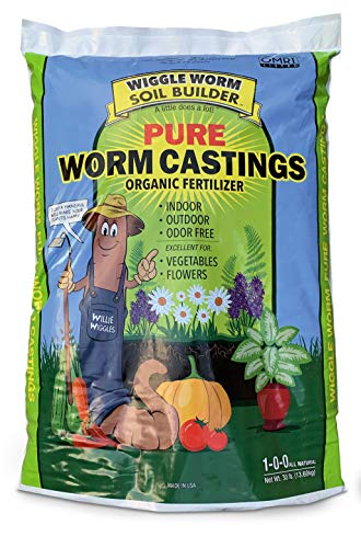 Worm Castings Organic Fertilizer, Wiggle Worm Soil Builder