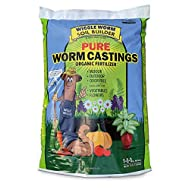 Worm Castings Organic Fertilizer, Wiggle Worm Soil Builder, 30-pounds