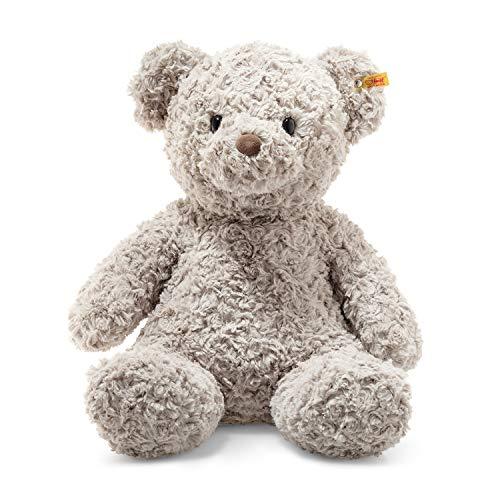 """Steiff 113482 Original Plüschtier Teddybär Soft Cuddly Friends Honey, Kuscheltier ca. 48 cm, Markenplüsch Knopf im Ohr"""", Schmusefreund für Babys von Geburt an, grau"""