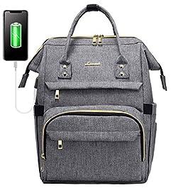 LOVEVOOK Sac à Dos Femme, Imperméable Sac a Dos PC Portable 14 Pouces, Petit élégant Sac à Dos pour Ordinateur avec Port…