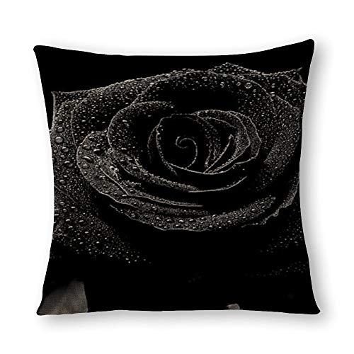 Funda de almohada rosa negra.