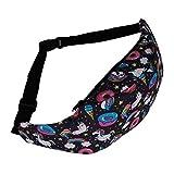 MsMsa 3D Paquete de la Cintura Colorido Estilo for los Hombres del Paquete de Fanny del vago Bolsa Unicornio Mujeres Cinturón Dinero Viajando Cintura Bolsa (Color : 4)