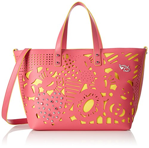 BRACCIALINI TUA Damen Summer Handtasche, Pink (Fuchsia), 43x26x16 cm (W x H x L)