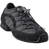 Men's Women's Practice Dance Sneaker Shoes Split Sole Black VFSN005EB Comfortable - Very Fine 9.5 M US [Bundle of 5]