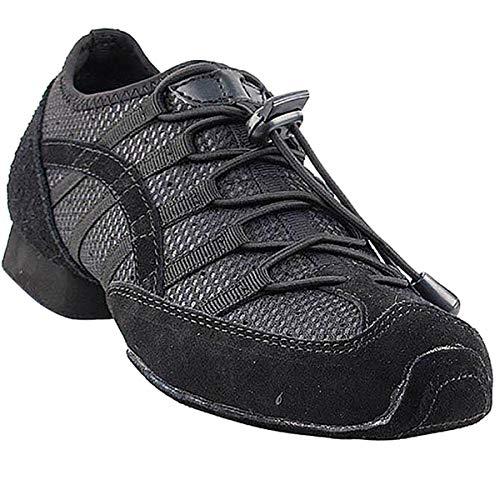 Men's Women's Practice Dance Sneaker Shoes Split Sole Black...