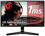 LG 24MP59G-P - Monitor Gaming FHD de 60,4 cm (23,8') con Panel IPS (1920 x 1080 píxeles, 16:9, 1 ms con MBR, 75Hz, 250 cd/m², 1000:1, sRGB 99%) Color Negro