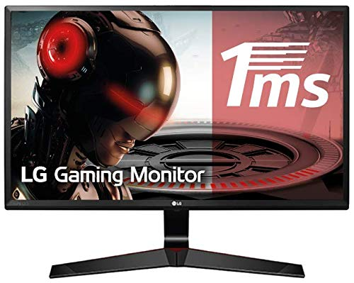 "LG 24MP59G-P - Monitor Gaming FHD de 60 cm (24"") con Panel IPS (1920 x 1080 píxeles,  16:9,  1 ms con MBR,  75Hz,  250 cd/m²,  1000:1,  sRGB >99%, D-SUB x1, HDMI x1, DP x1),  Color Negro"