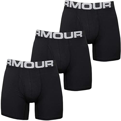 Under Armour Charged Cotton 6in 3 Pack Boxer Homme (Lot de 3)