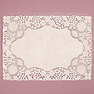 10x14 Inch White Rectangle Lace Paper Doilies 100 Count