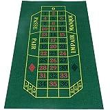 Trade Shop Traesio Tappeto da Tavolo Verde Feltro per Roulette Gioco Pallina Casino Games
