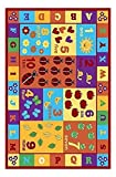"""Furnish My Place 740 ABC with Numbers ABC Area Rug for Kids, Educational Alphabet Letter & Numbers, Multicolor (3'3""""x5')"""