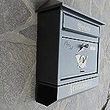 Großer Briefkasten / Postkasten XXL Anthrazit mit Zeitungsrolle Zeitungsfach Schrägdach Trapezdach - 3