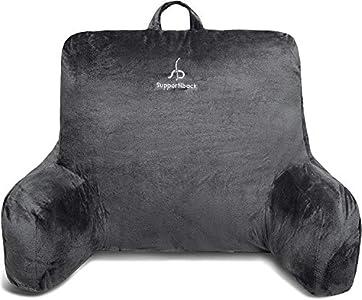 Supportiback® | La almohada de lectura #1 en Amazon | Diseñada por Doctores y con Súper Relleno para una Postura Cómoda, de Apoyo y Adecuada – Funda Lavable – Lee, Descansa o Trabaja Cómodamente