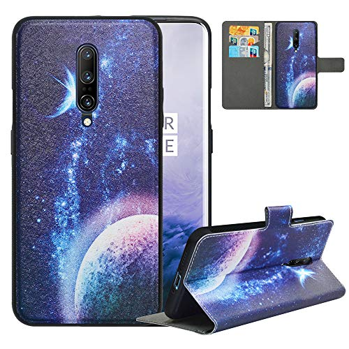 LFDZ Compatible with OnePlus 7 Pro Case/OnePlus 7 Pro 5G Case,PU Leather OnePlus 7 Pro Wallet Case with [RFID Blocking],2 in 1 Magnetic Detachable Flip Slim Cover Case for OnePlus 7 Pro,Planet