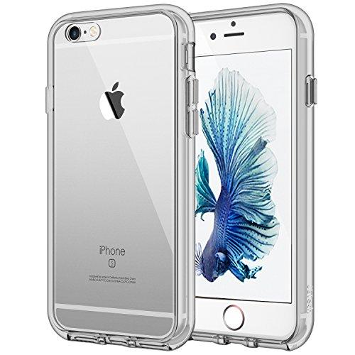 JETech Hülle Kompatibel iPhone 6s Plus iPhone 6 Plus, Schutzhülle mit Anti-kratzt Transparente und Rückseite, Grau