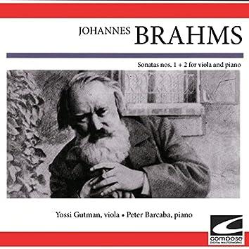 Johann Brahms - Sonatas nos. 1 + 2 for Viola and Piano