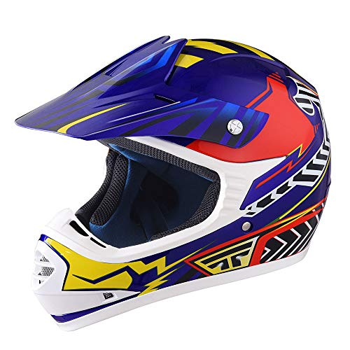 AHR DOT Youth Motorcycle ATV Complete-Face Helmet