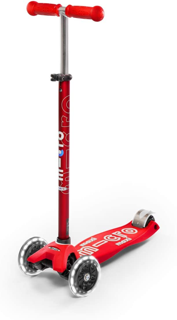 Max 79% OFF Micro New arrival Kickboard - Maxi Deluxe Lean-to-Steer 3-Wheeled LED Swis