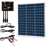 SUNER POWER 50 Watts 12V Off Grid Solar Panel Kit - Waterproof 50W Solar Panel + Photocell 10A Solar Charge Controller with Work...