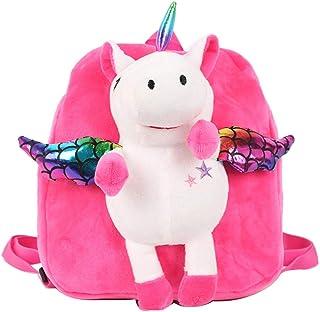 Mochila Unicornio Mini Mochilas Escolares de Dibujos Animados Monedero de Peluche Lindo para bebé niños (Rosy)