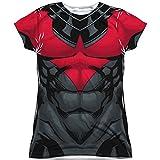 Juniors: Batman- Nightwing Red Uniform Costume Tee Juniors (Slim) T-Shirt Size S