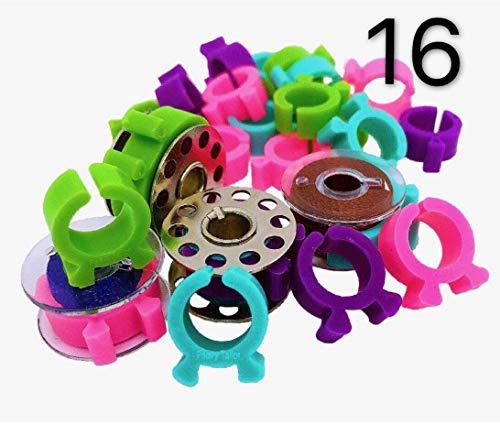 16 Stück Brother-Näh- und Stickspulen Nähwerkzeuge.