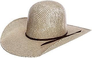RODEO KING Mens 3 Tone Open Crown 4 1/2 Brim Straw Cowboy Hat