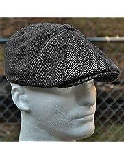 Krantenjongenspet Wol Tweed Achthoekige Cap Voor Mannen Grijs Bruin Gatsby Hoed Baretten Hoed Cabbies Hoed Hoofddeksel Baret Hoeden