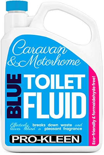 Pro-Kleen Blue Toilet Chemical Fluid Solution Cleaner 2L for Caravan and Motorhomes - Eco-Friendly, Formaldehyde Free - Upto 20 Treatments - 2 Litres