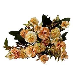 Dserw Artificial Flower, Artificial Flower Carnation Garden DIY Stage Party Wedding Holiday Decor – Orange
