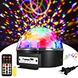 ♬【4 Control Mode】Auto,Sound Active Mode,Flash and Rotation mode. You can change the mode by setting the remote control. The higher the frequency of sound, the faster the lights flashing and rotating speed. ♬【Music Player Function】This disco lights su...