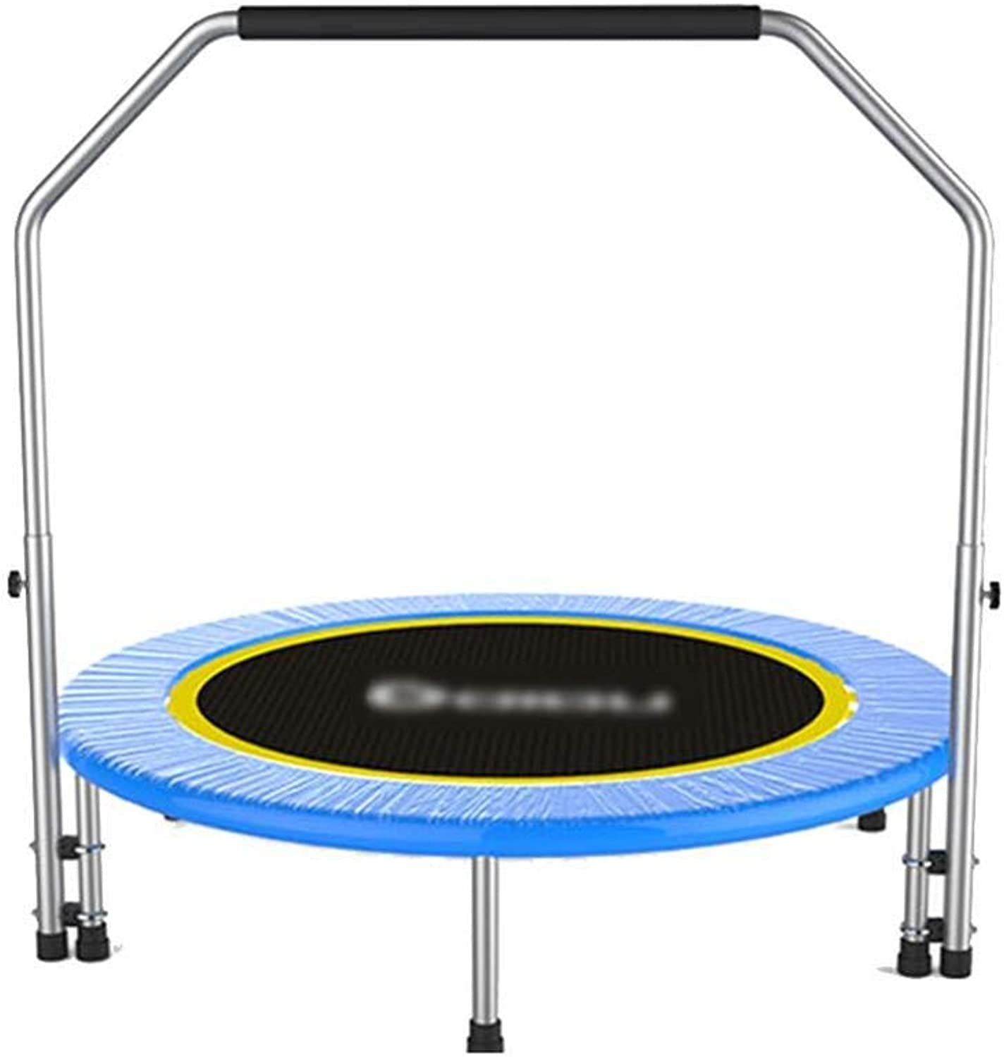 ZJW Trampoline Folding 40 inch with Adjustable Handle, Indoor for Indoor Garden Workout Cardio Training Kids and Adults,A,Trampolines