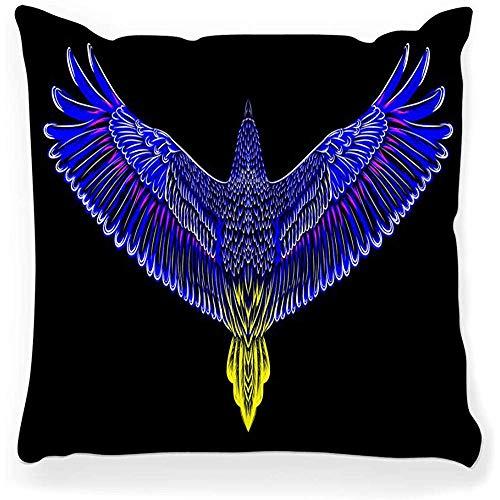 SSHELEY kussensloop hand getrokken vogel Eagle schets Tattoo Print T Gedetailleerde Geïsoleerde Condor Wild Animal Flight