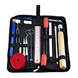 Piano Tuning Kits, Professional 18 Pieces Piano Tuning Tools Including Tuning Hammer Lever Felt , Mutes,Wrench Hammer ,Tuning Fork,Handle Kit Tools and Case for Tuner (18pcs Pack)