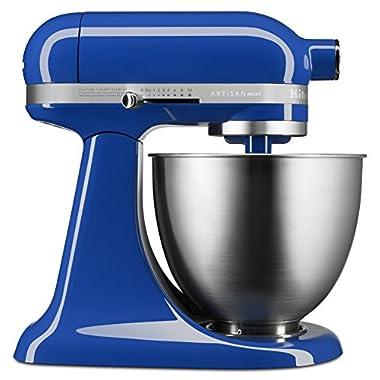 KitchenAid KSM3311XTB Artisan Mini Series Tilt-Head Stand Mixer, 3.5 quart, Twilight Blue