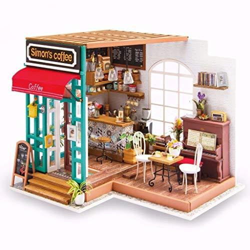 La Vida en Led DIY Casa de Muñecas Café de Simon Miniatura Puzzle 3D