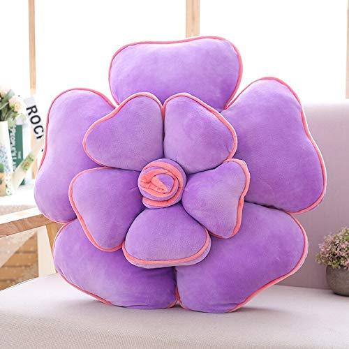 hokkk 55cm Fantasy Rose Flowers Toy Color Flowers Plants Toy Red Yellow Purple Pink Blue Green Sofa Chair Decor Throw Pillow 55cm Purple
