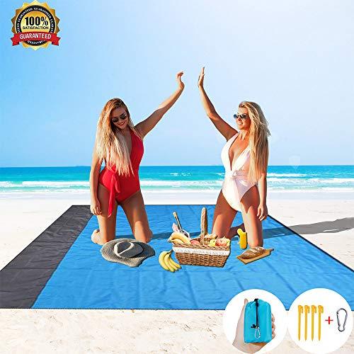 HISAYSY Manta de playa a prueba de arena, manta de picnic extra grande