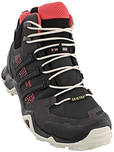 adidas Women's Terrex Swift R Mid GTX Hiking Shoe-Black/Black/Tactile Pink-10