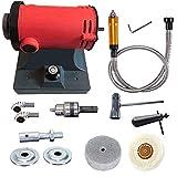 Pulidora de torre de trabajo de 1200 W para máquina de pulido de roca de joyas y trituradora eléctrica, kit de moldeo de árbol flexible para herramienta rotativa