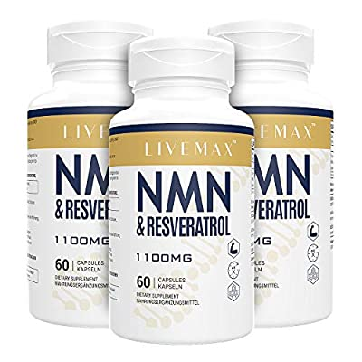 NMN+ Trans Resveratrol Capsules with Maximum Strength - Superior Absorption Dietary Supplement 60 Capsules - Supports Healthy Aging, NAD Booster for Cellular Repair & Energy (3 Pack New)