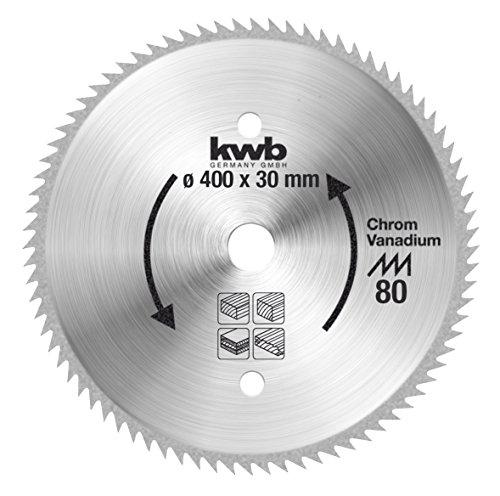 kwb Profilholzblatt CV für Bau- und Tischkreisägen 594011 (400 x 30 mm, 80 Zähne, Spitzzahn)