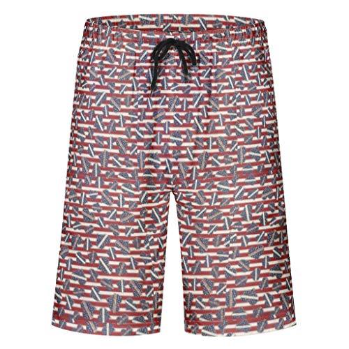 Caixiabeauty heren zwembroek sport shorts zomer casual mode sneldrogend zwemshort zwempak zwemshorts met elastisch trekkoord zakken zonder binnenslip