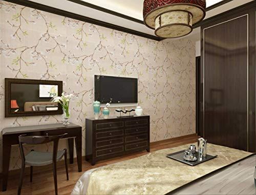 Vintage Wasserdichte Pvc-Tapete, Selbstklebende Dekoration Wohnzimmer Chinesische Tapete Tv Hintergrund Wand Desktop Cashback Aufkleber, 1278, 0.45Mx10M
